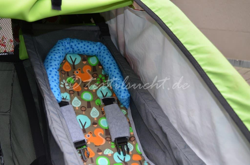 Babyeinsatz für den Croozer Fahrradanhänger
