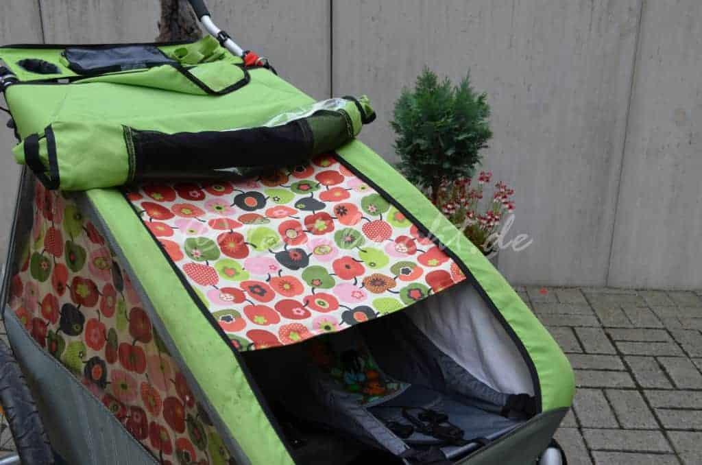 Sonnenschutz für den Croozer Fahrradanhänger