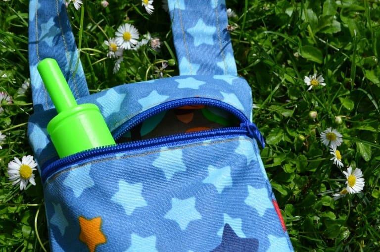 Kleine Reißverschlusstasche zum Sammeln