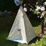 ein DIY Tipi für den Garten