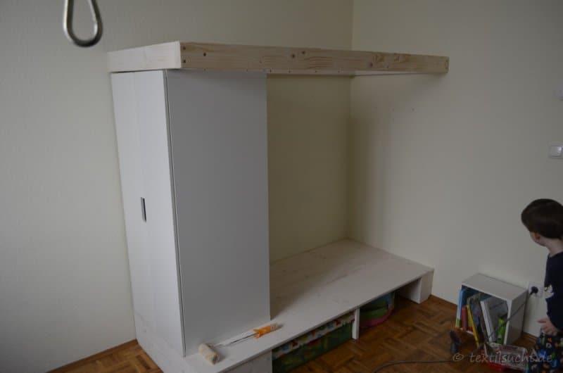 Hochbett selber bauen - Aufbau
