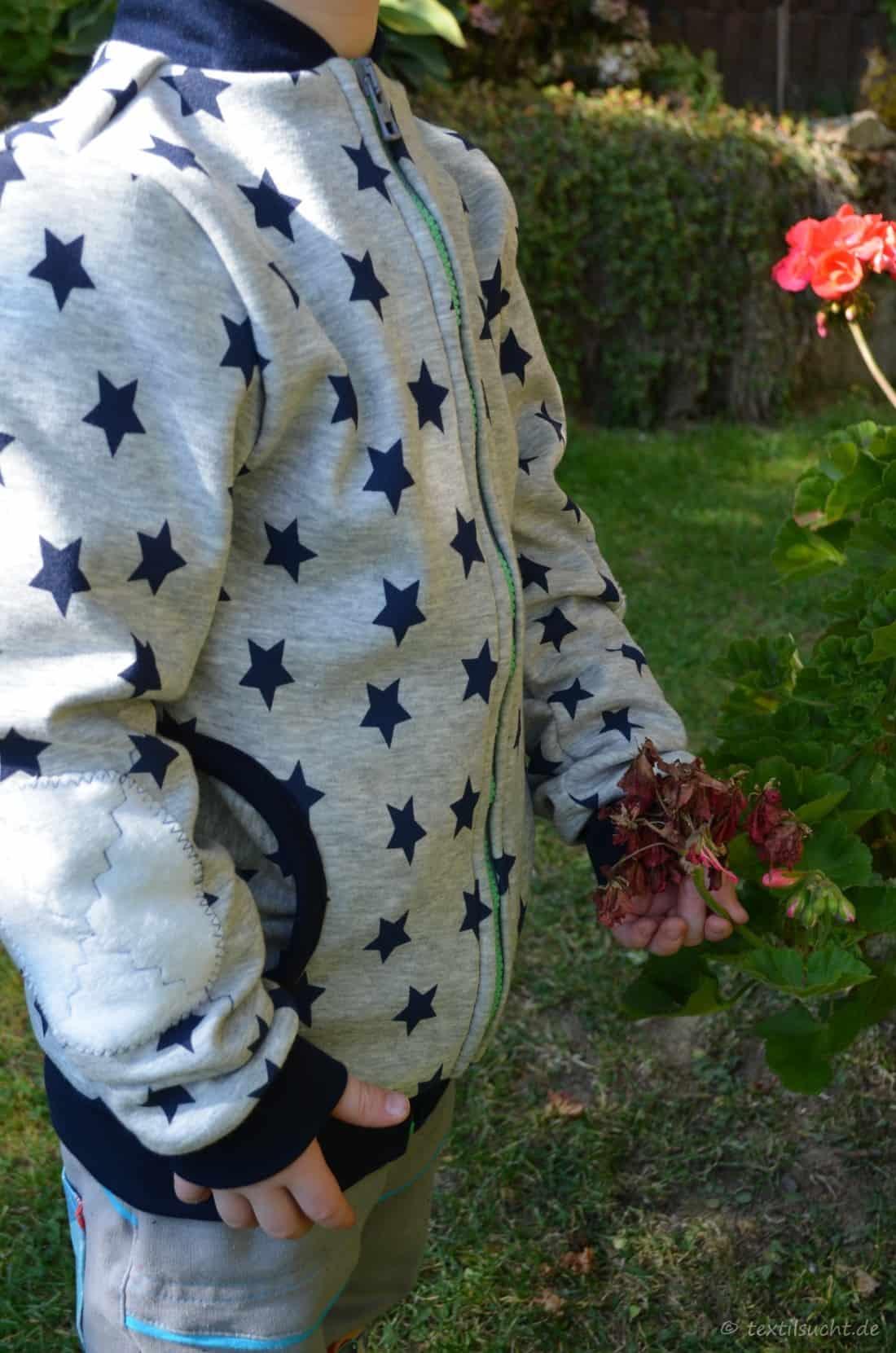 Sweatjacke aus Alpenfleece » Textilsucht®