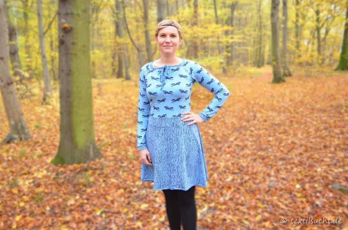 Noch ein Kleid für mich – mein Raglankleid Herbstgold Nr. 2