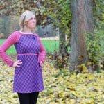 Herbstgold 60er Jahre Minikleid