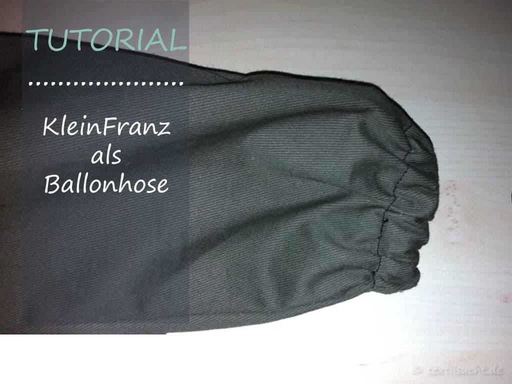 Tutorial: Ballonhose KleinFranz