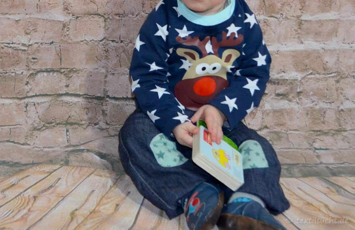 Weihnachtspullover mit Rentier Rudi