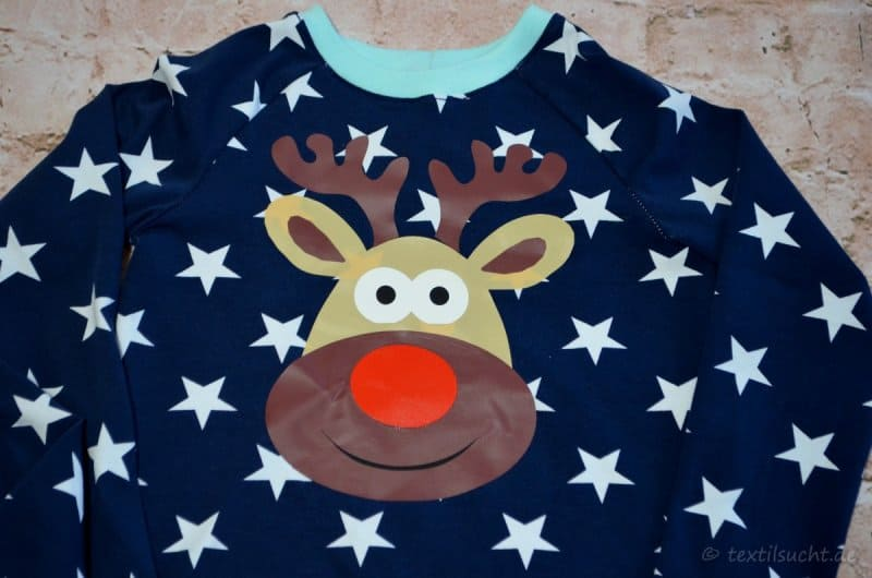 Weihnachtspullover Rentier
