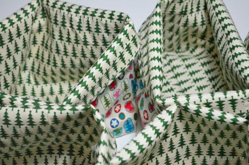 Weihnachtliches Utensilo Stoffkörbchen