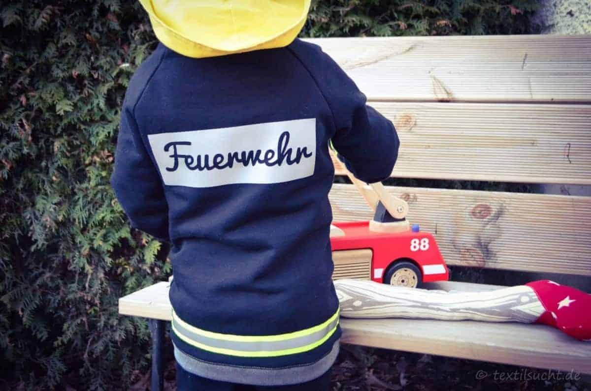 Faschingskostüm Feuerwehrmann Nähen Textilsucht