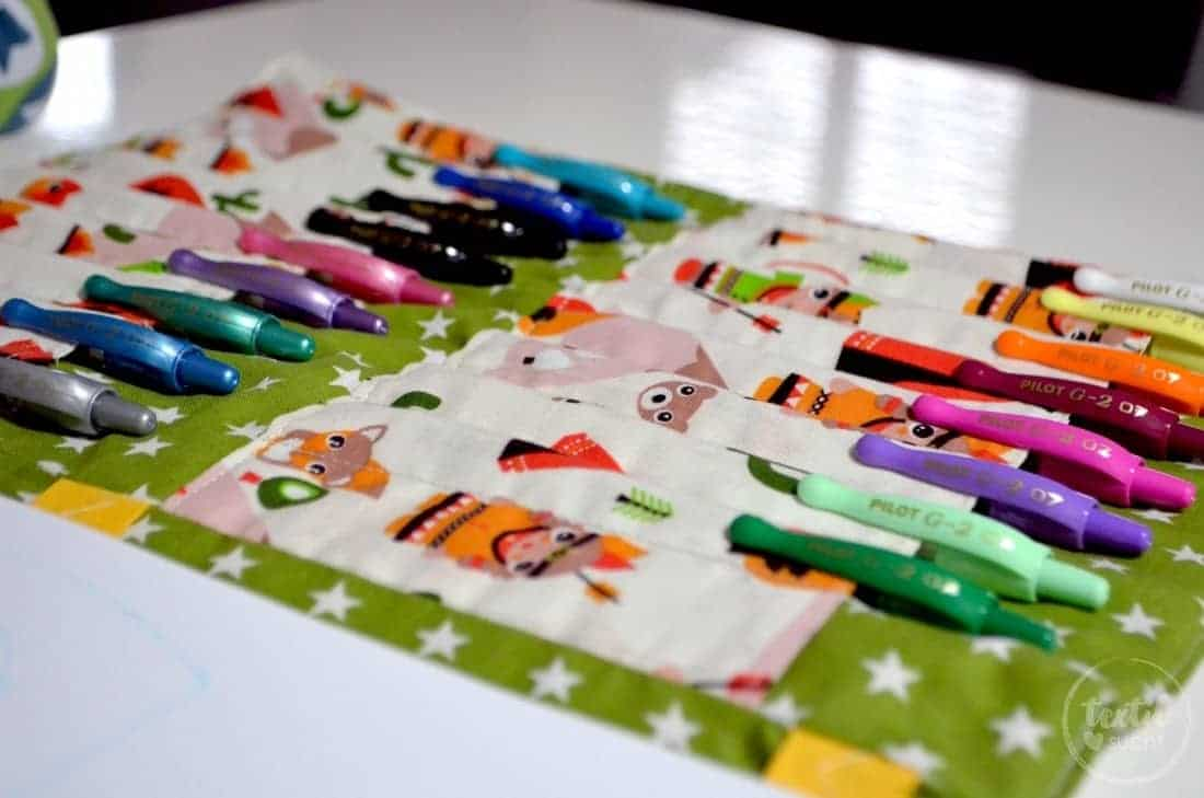 A4 Malmappe für Stifte und Block selber nähen