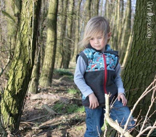 """Schnittmuster Kinderjacke/ Kinderweste """"Kleingepackt"""" - inkl. Nähanleitung"""