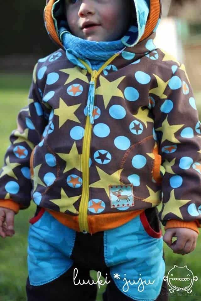 Schnittmuster Kinderjacke Kinderweste Größe 74-146 | textilsucht