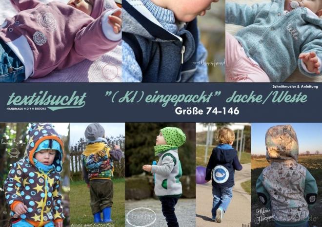 Schnittmuster Kinderjacke Kinderweste Größe 74-146 | kleingepackt