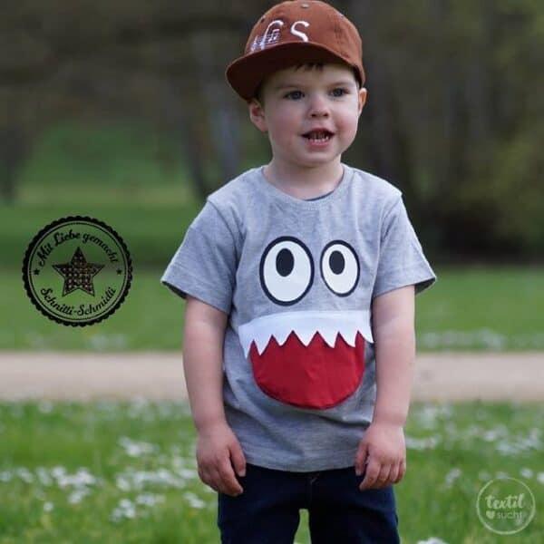 Schnittmuster Kindershirt mit Eingrifftasche Gr. 74-146 (Monster Shirt) - Bild 14
