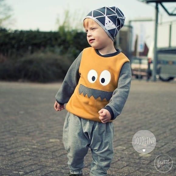 Schnittmuster Kindershirt mit Eingrifftasche Gr. 74-146 (Monster Shirt) - Bild 13