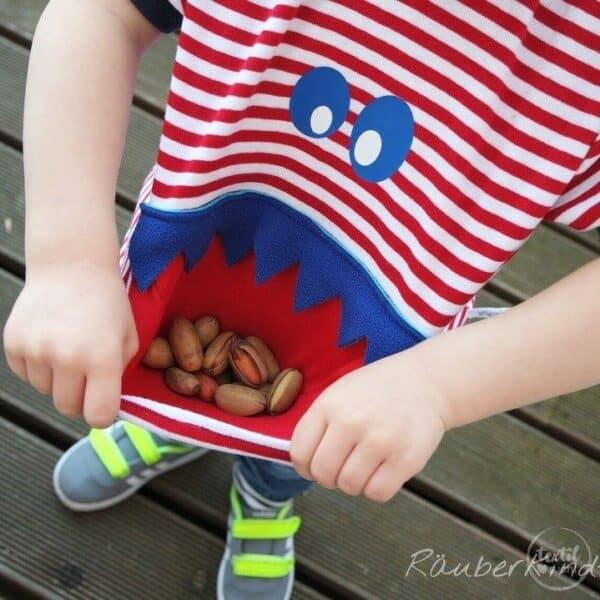 Schnittmuster Kindershirt mit Eingrifftasche Gr. 74-146 (Monster Shirt) - Bild 10