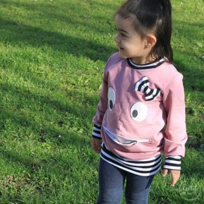 Schnittmuster Kindershirt mit Eingrifftasche Gr. 74-146 (Monster Shirt) - Bild 9