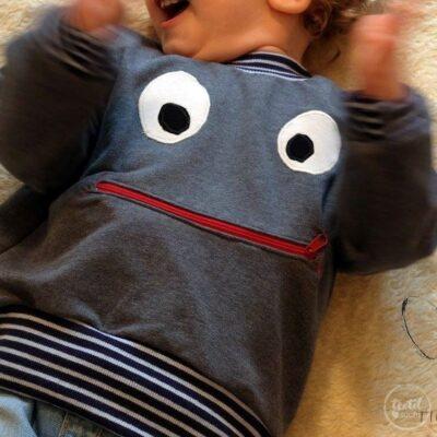 Schnittmuster Kindershirt mit Eingrifftasche Gr. 74-146 (Monster Shirt) - Bild 7