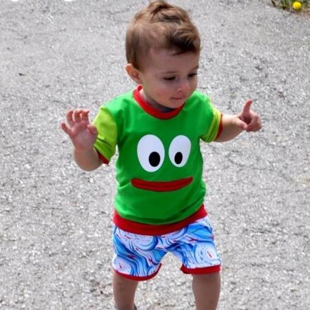 Schnittmuster Kindershirt mit Eingrifftasche Gr. 74-146 (Monster Shirt) - Bild 6
