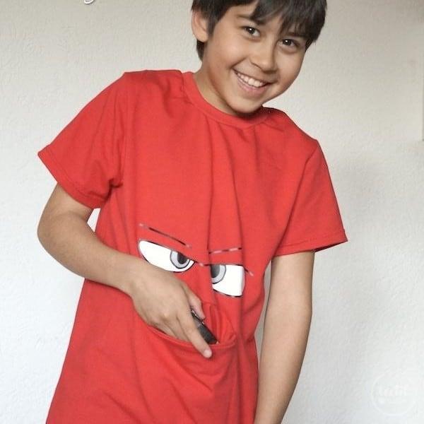 Schnittmuster Kindershirt mit Eingrifftasche Gr. 74-146 (Monster Shirt) - Bild 5