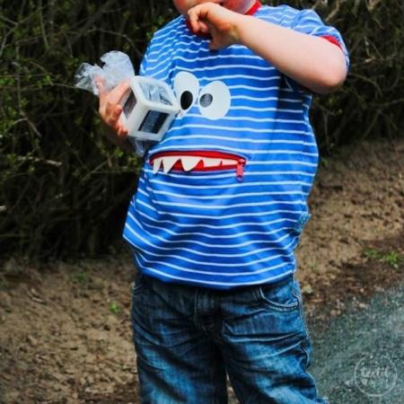Schnittmuster Kindershirt mit Eingrifftasche Gr. 74-146 (Monster Shirt) - Bild 3