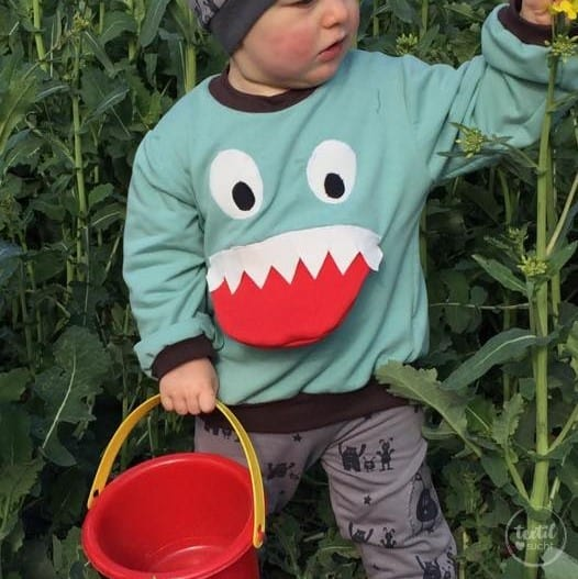 Schnittmuster Kindershirt mit Eingrifftasche Gr. 74-146 (Monster Shirt) - Bild 2