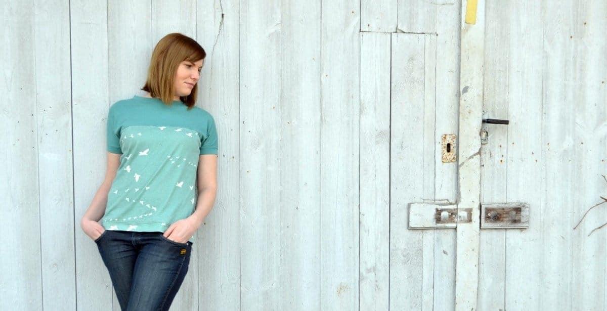 Endlich Frühling: Amylee als Kurzarm-Shirt