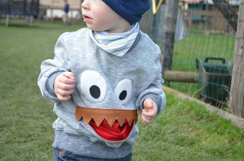 Schnittmuster Kindershirt: Die Monster sind los …