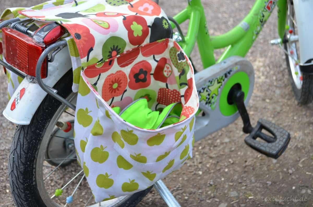 fahrradtasche f r den gep cktr ger n hen textilsucht. Black Bedroom Furniture Sets. Home Design Ideas