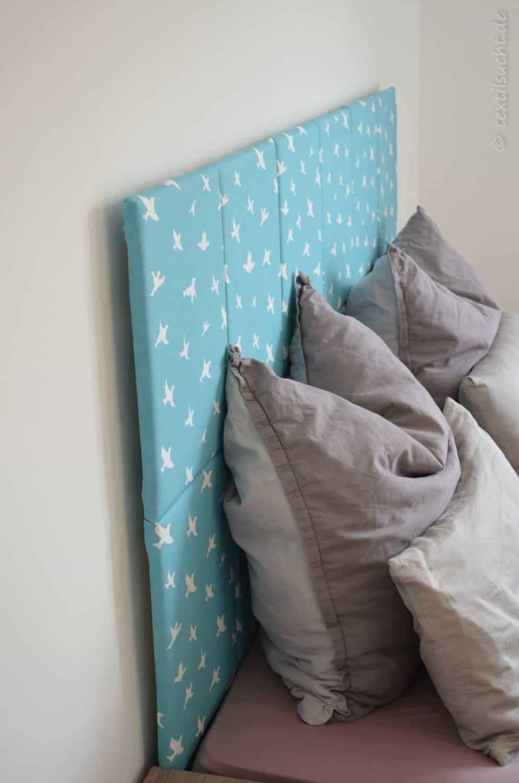 kopfteil f r 39 s bett selber bauen textilsucht. Black Bedroom Furniture Sets. Home Design Ideas