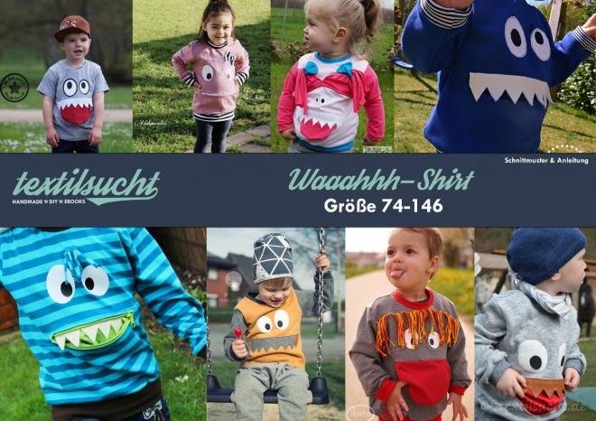 Schnittmuster Kindershirt mit Eingrifftasche (Waaahhh Shirt)