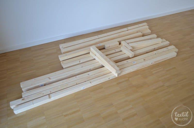 kinderbett selber bauen xxl hausbett bauanleitung textilsucht. Black Bedroom Furniture Sets. Home Design Ideas