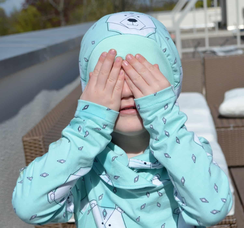 Ratzfatz Beanie Mütze und Kragenshirt (Polarbärenoutfit) | Textilsucht