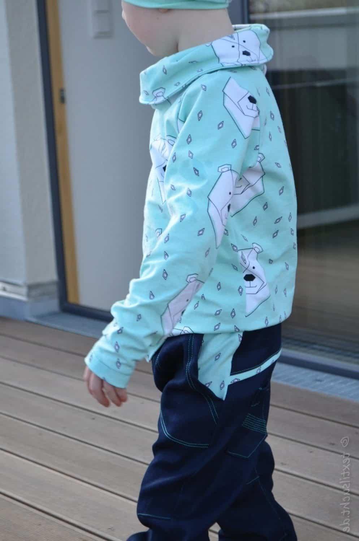 Täschling mit Steppnähten (Polarbärenoutfit) | Textilsucht