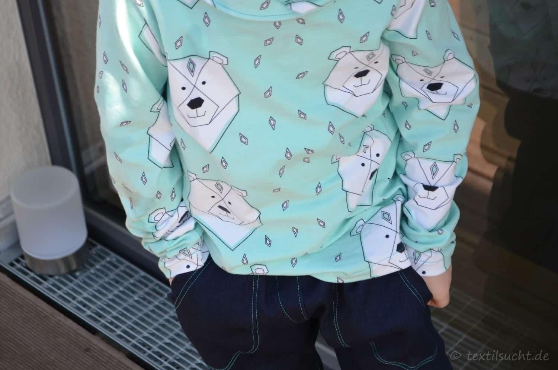Kragenshirt und Täschling 2.0 (Polarbärenoutfit) | Textilsucht