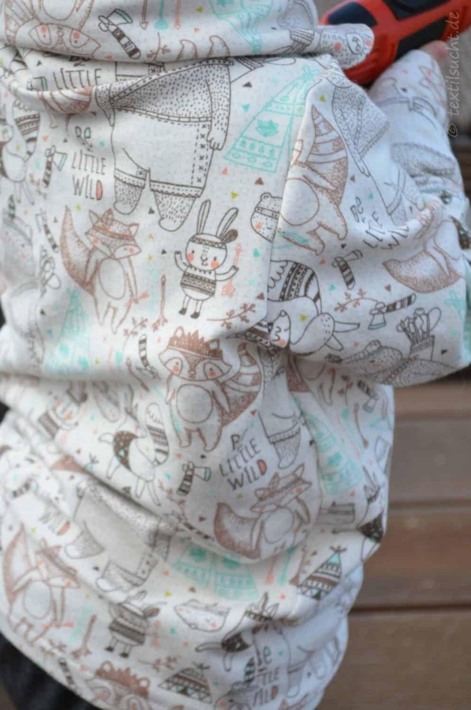 Be a little wild: Minioutfit aus Kragenshirt und Frankenpump - Bild 5 | textilsucht