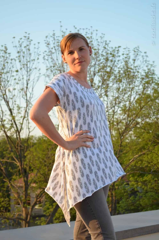 Shirt Schnittmuster Ebby aus Feder-Jersey von Staghorn Design - Bild 6 | textilsucht