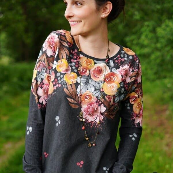 Designbeispiel Schnittmuster Shirt Amylee