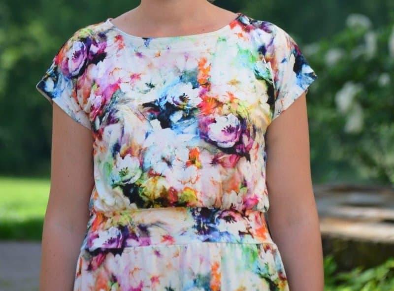 Lieblingskleid Federleicht: Schnittmuster Sommerkleid mit Bündchen - Bild 7