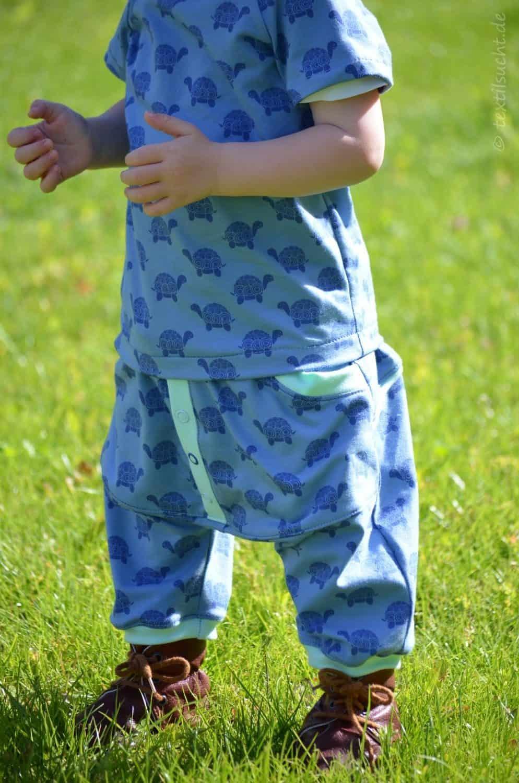 Kinderoutfit aus Makerist Schildkrötenjersey - Bild 2  textilsucht.de