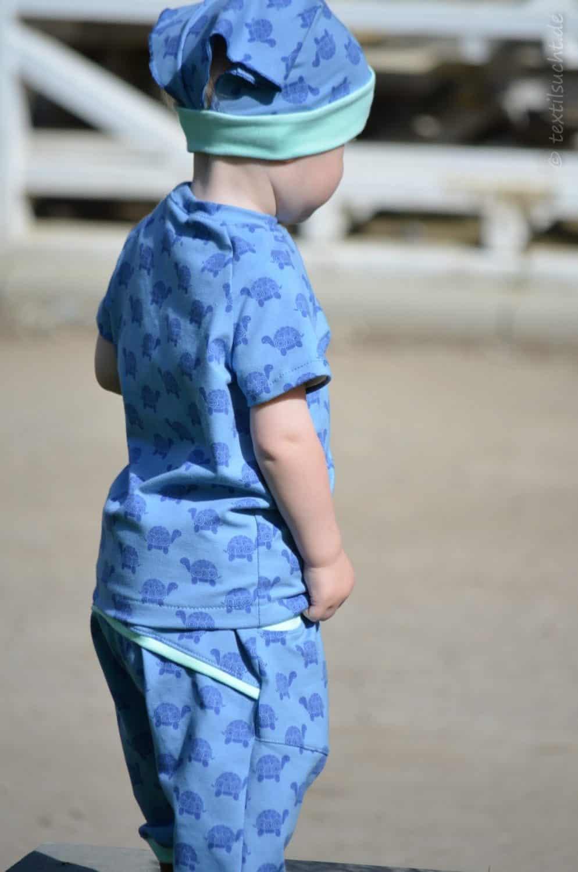 Kinderoutfit aus Makerist Schildkrötenjersey - Bild 3  textilsucht.de