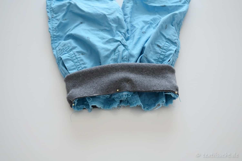 Einen zu engen Hosenbund gegen ein bequemes Bündchen tauschen - Bild 5 | textilsucht.de