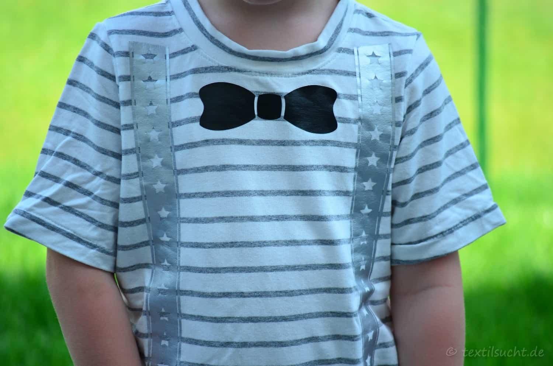 Ein Taufoutfit aus Shirt und Mütze für Jungs - Bild 7 | textilsucht.de