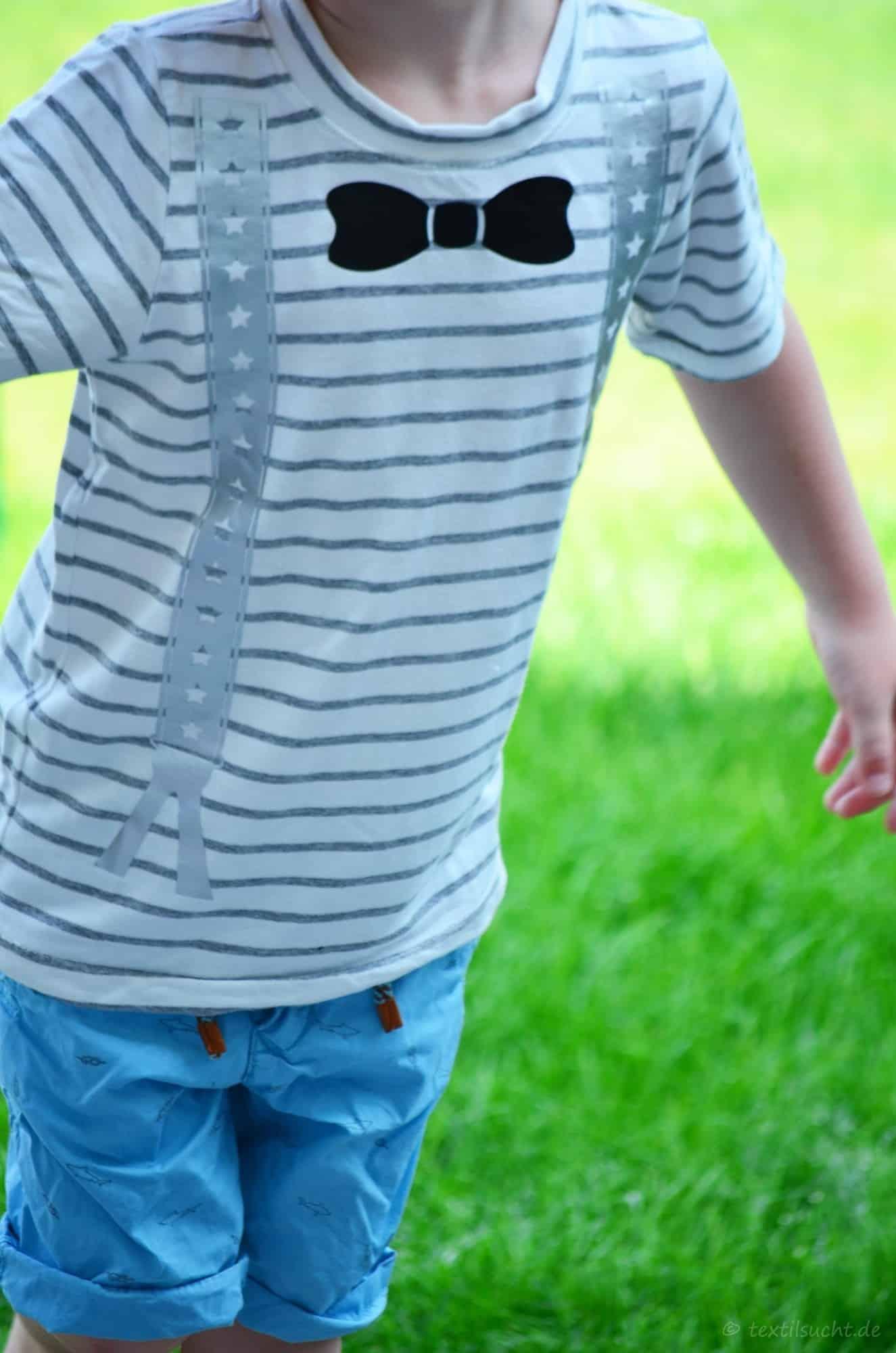 Ein Taufoutfit aus Shirt und Mütze für Jungs - Bild 8 | textilsucht.de