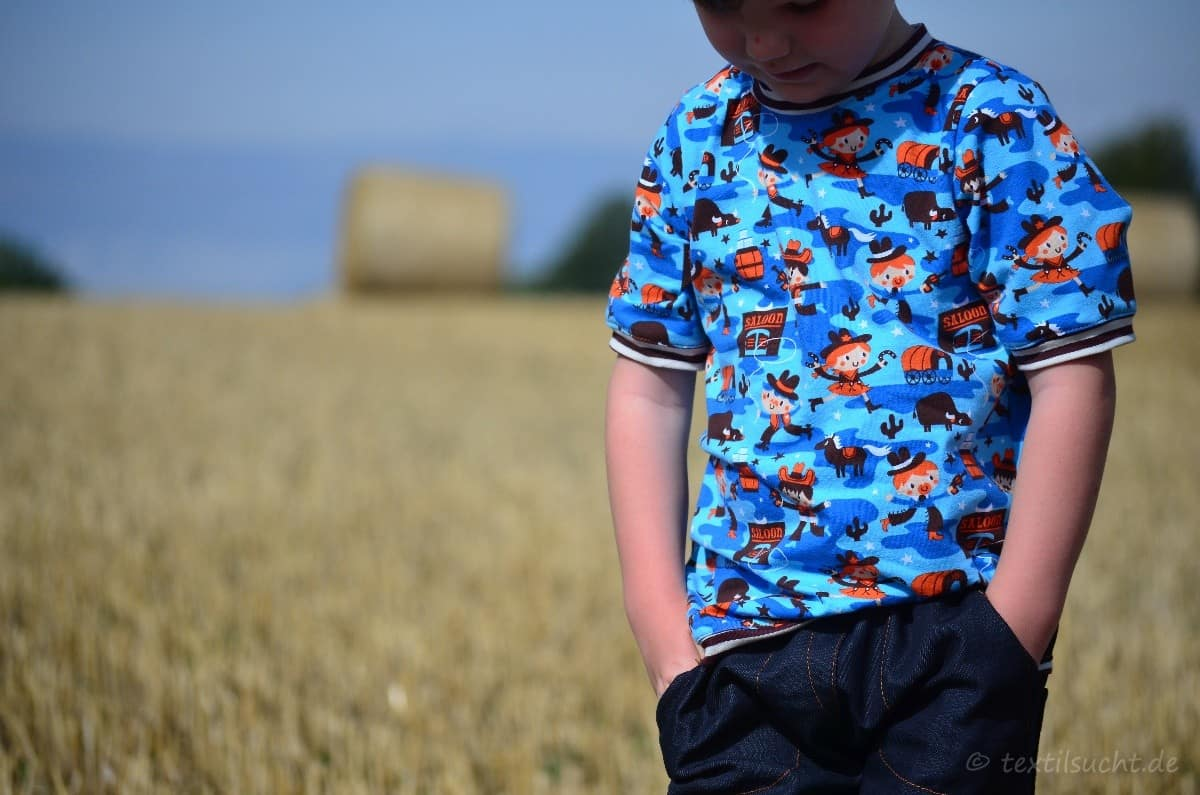 Cowboy-Shirt und Upcycling-Jeans - Für Jungs genäht - Bild 1 | textilsucht.de