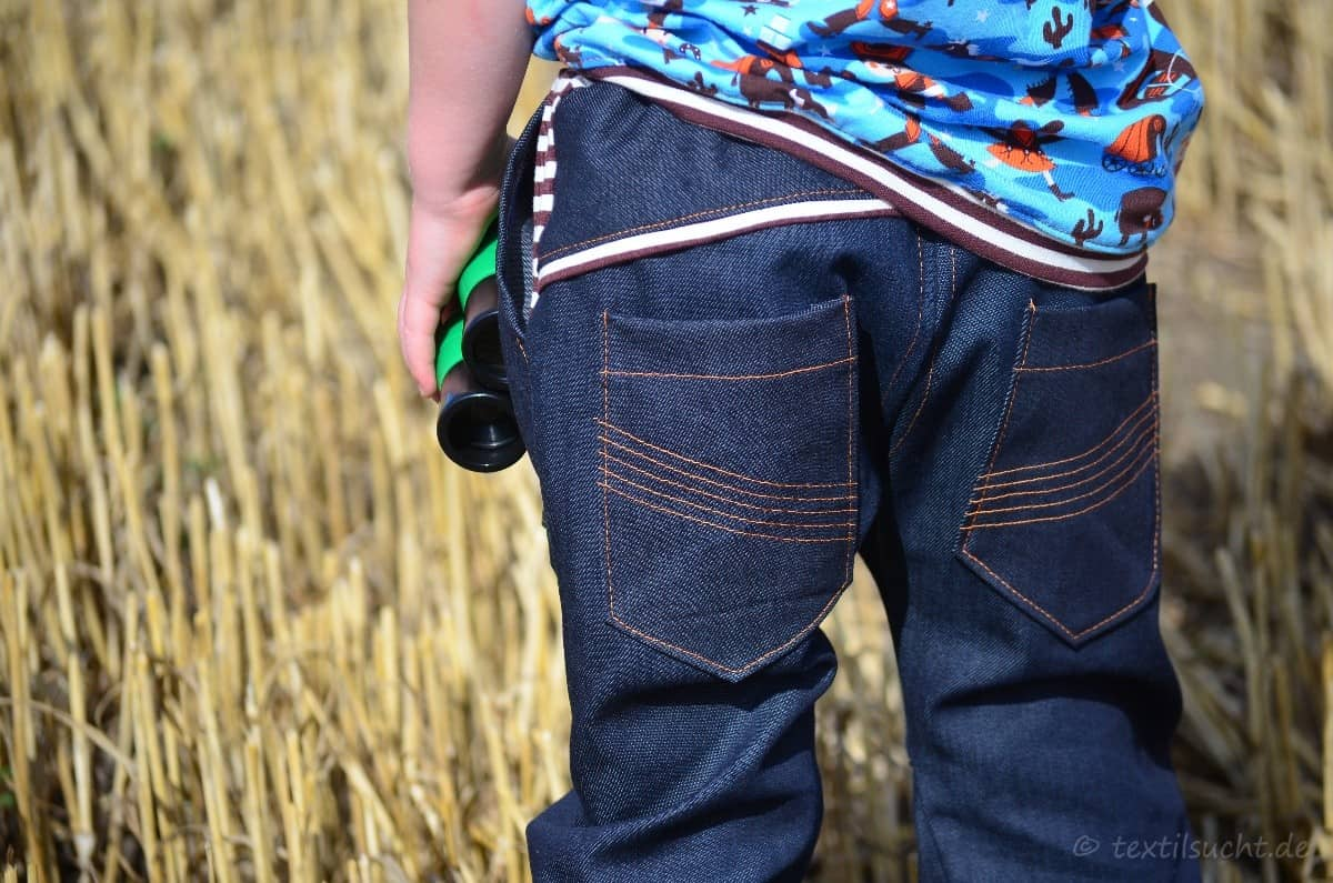 Cowboy-Shirt und Upcycling-Jeans - Für Jungs genäht - Bild 2 | textilsucht.de