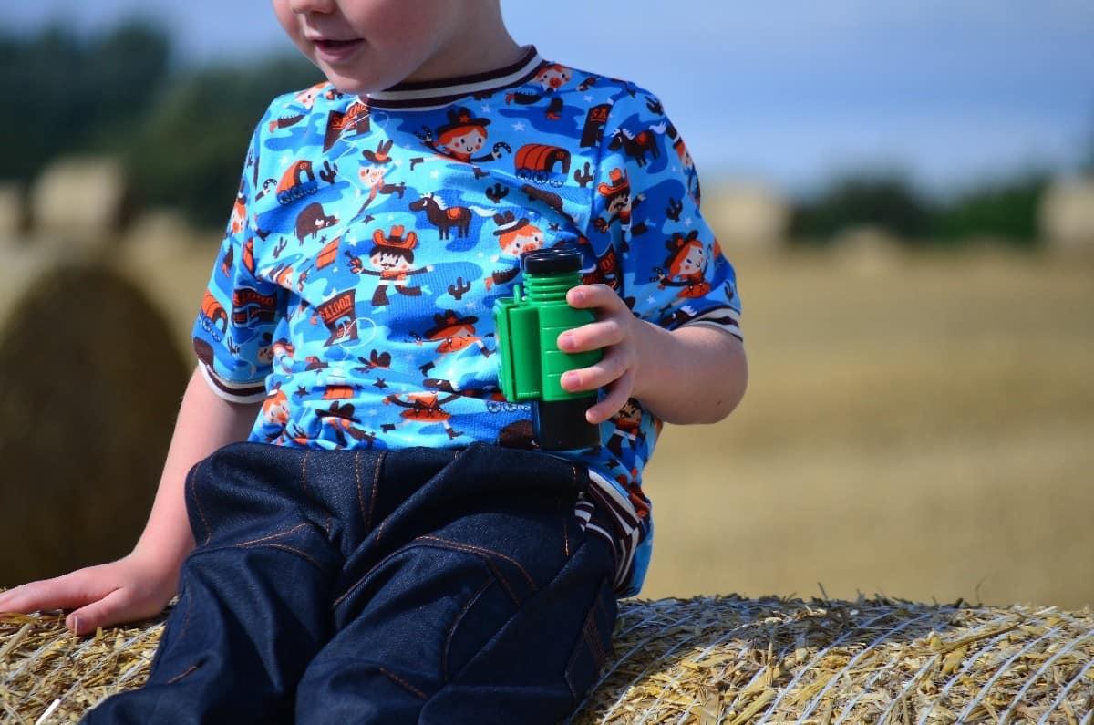 Cowboy-Shirt und Upcycling-Jeans - Für Jungs genäht - Bild 4 | textilsucht.de