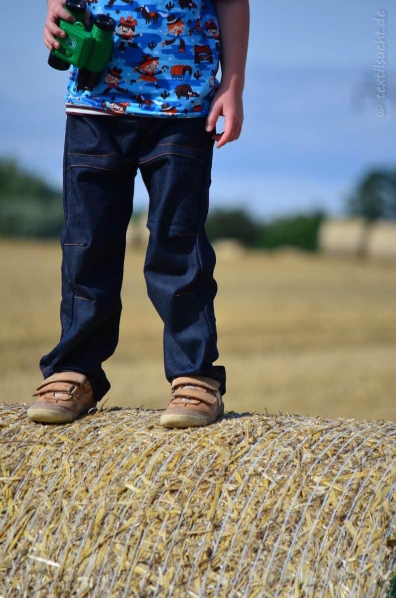 Cowboy-Shirt und Upcycling-Jeans - Für Jungs genäht - Bild 5 | textilsucht.de