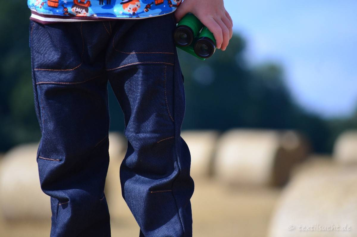 Cowboy-Shirt und Upcycling-Jeans - Für Jungs genäht - Bild 6 | textilsucht.de