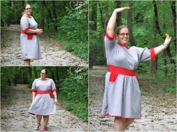 Nähanleitung Herbstkleid Federleicht: Kostenlose Anleitung für ein Herbstkleid - Designbeispiel 1